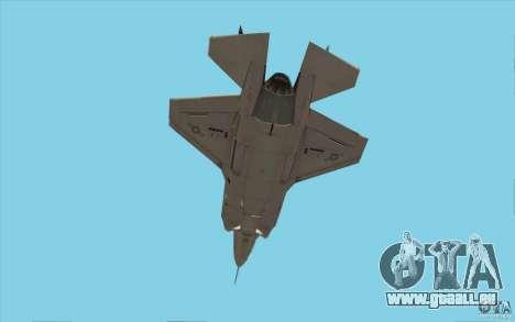 Lockheed F-35 Lightning II pour GTA San Andreas vue intérieure