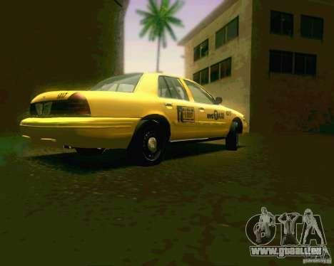 Ford Crown Victoria 2003 NYC TAXI pour GTA San Andreas vue de droite