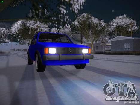 Volkswagen Rabbit GTI für GTA San Andreas obere Ansicht