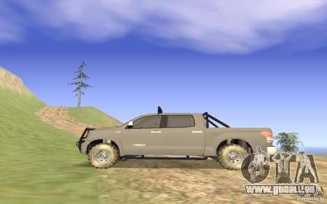 Toyota Tundra 4x4 pour GTA San Andreas laissé vue