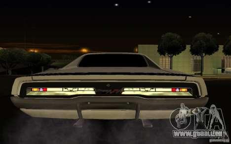 Dodge Charger R/T pour GTA San Andreas vue intérieure