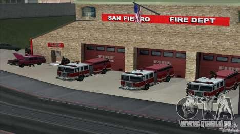 Le feu vif dans la v3.0 SF Final pour GTA San Andreas deuxième écran