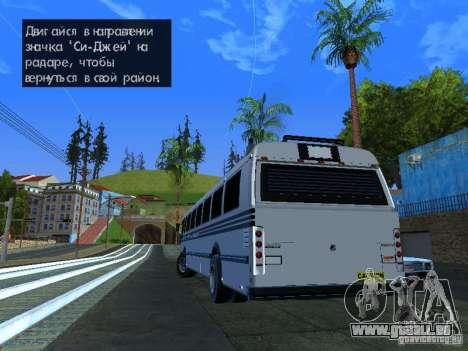 Prison Bus für GTA San Andreas linke Ansicht
