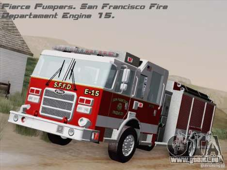 Pierce Pumpers. San Francisco Fire Departament für GTA San Andreas