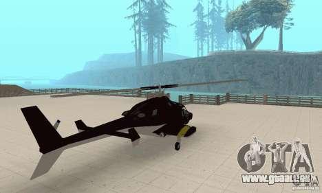Airwolf für GTA San Andreas linke Ansicht