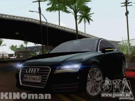 Audi A7 Sportback 2010 für GTA San Andreas zurück linke Ansicht