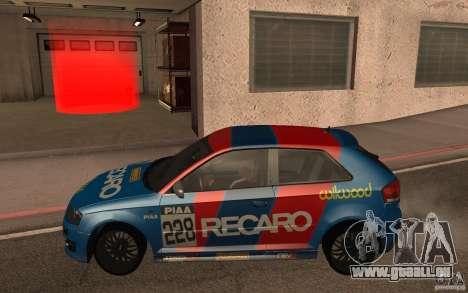 Audi S3 Tunable pour GTA San Andreas laissé vue