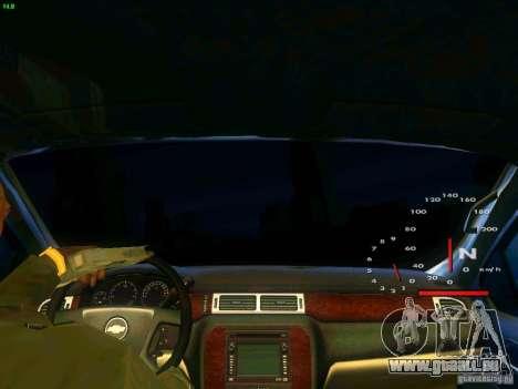 Chevrolet Silverado Final für GTA San Andreas Innenansicht
