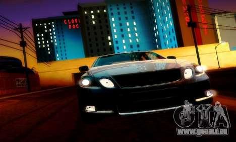 Lexus GS430 pour GTA San Andreas vue intérieure