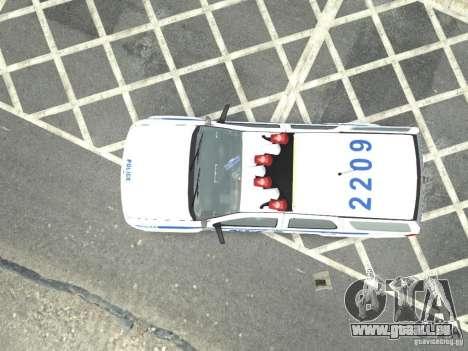 Chevrolet Tahoe NYCPD pour GTA 4 Vue arrière de la gauche