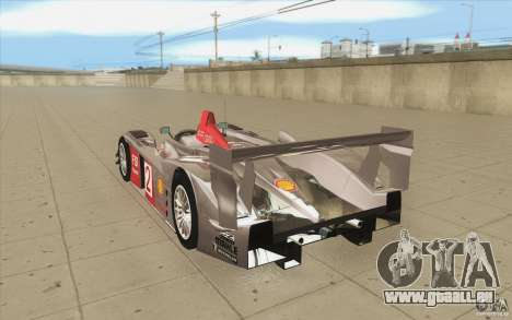 Audi R10 LeMans - Stock für GTA San Andreas zurück linke Ansicht