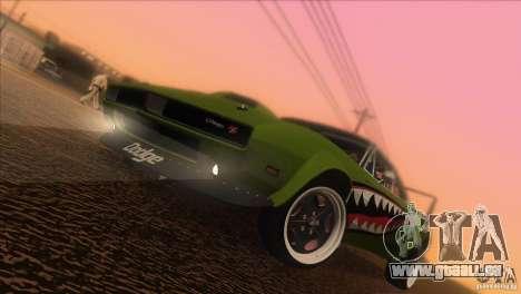 Dodge Charger RT SharkWide für GTA San Andreas Unteransicht
