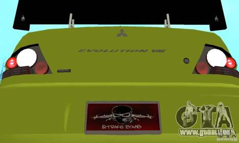 Mitsubishi Lancer Evo The Fast and the Furious 2 pour GTA San Andreas vue intérieure