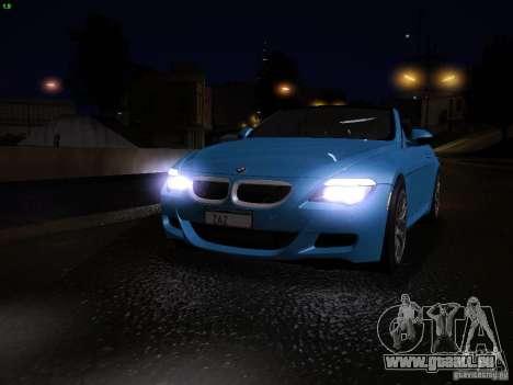 BMW M6 pour GTA San Andreas salon