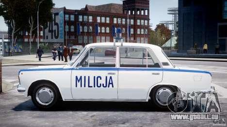 Fiat 125p Polski Milicja pour GTA 4 est une gauche