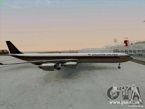 Airbus A-340-600 Singapore pour GTA San Andreas laissé vue
