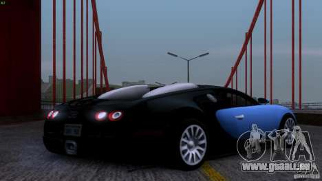 Bugatti Veyron 16.4 pour GTA San Andreas vue de côté