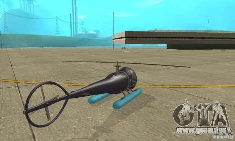 Dragonfly pour GTA San Andreas sur la vue arrière gauche
