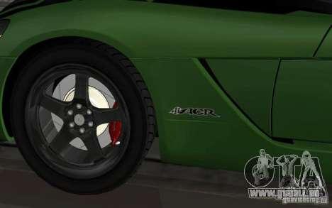 Dodge Viper un peu tuning pour GTA San Andreas sur la vue arrière gauche
