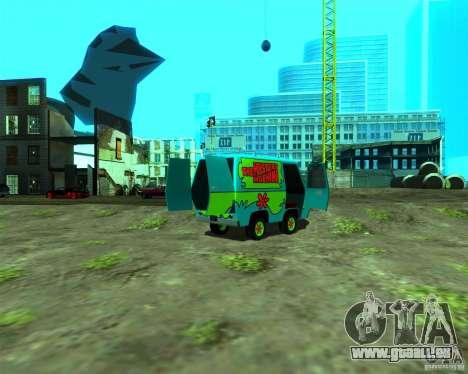 Mystery Machine pour GTA San Andreas sur la vue arrière gauche