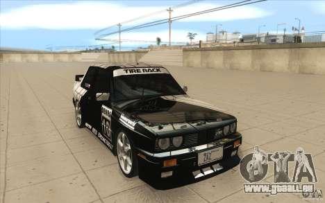 BMW E30 M3 - Coupe Explosive pour GTA San Andreas vue arrière