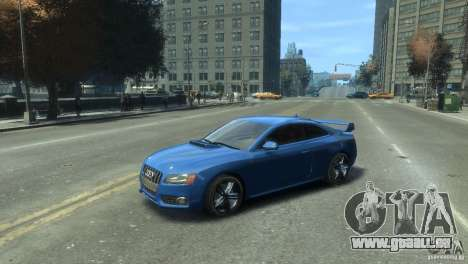 Audi S5 1.1 pour GTA 4 Vue arrière de la gauche