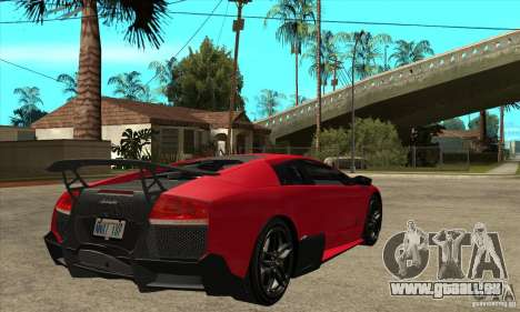 Lamborghini Gallardo LP570-4 SV pour GTA San Andreas vue de droite