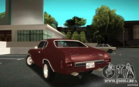 Chevrolet Chevelle SS für GTA San Andreas linke Ansicht
