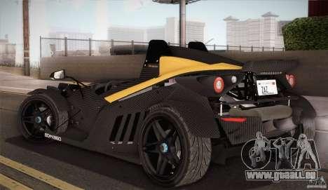 KTM-X-Bow pour GTA San Andreas vue de dessous