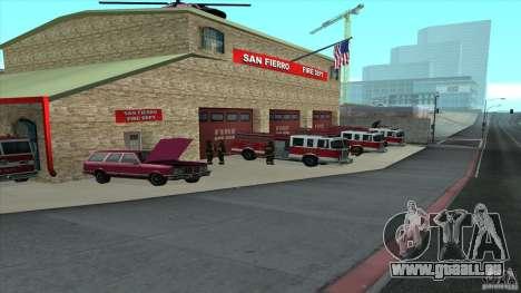 Le feu vif dans la v3.0 SF Final pour GTA San Andreas