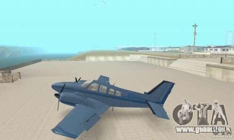 Beechcraft Baron 58 T für GTA San Andreas zurück linke Ansicht