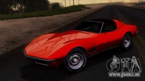 Chevrolet Corvette C3 Stingray T-Top 1969 v1.1 pour GTA San Andreas vue de côté