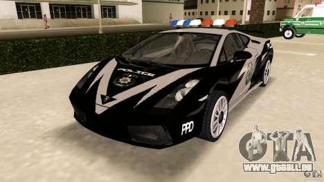 Lamborghini Gallardo Police pour GTA Vice City