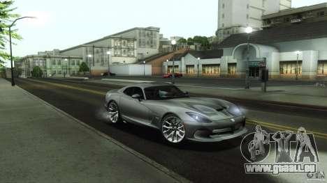 Dodge SRT Viper GTS 2012 V1.0 pour GTA San Andreas vue de dessous