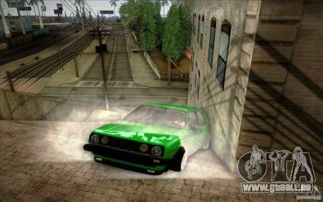 VW Golf MK2 Stanced pour GTA San Andreas laissé vue