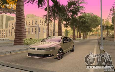 Volkswagen Gol G6 pour GTA San Andreas sur la vue arrière gauche