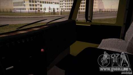 KAMAZ 5460 restylage pour GTA San Andreas vue intérieure