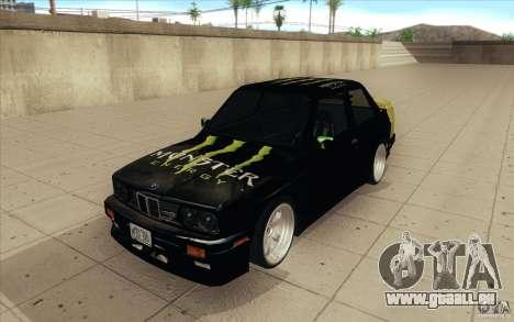 BMW E30 323i für GTA San Andreas Rückansicht