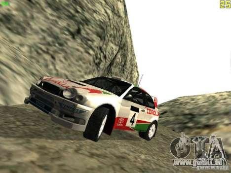 Toyota Corolla 1999 Rally Champion für GTA San Andreas