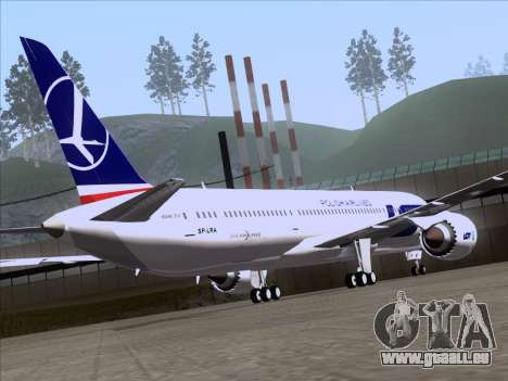 Boeing 787-9 LOT Polish Airlines für GTA San Andreas Innenansicht