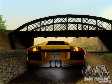 Lamborghini Murcielago LP640-4 für GTA San Andreas zurück linke Ansicht