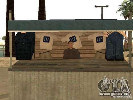 Marché sur la plage pour GTA San Andreas onzième écran