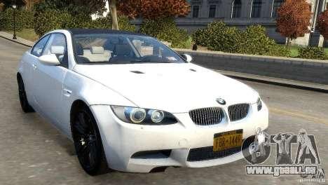 BMW M3 E92 2008 v1.0 pour GTA 4 est une gauche