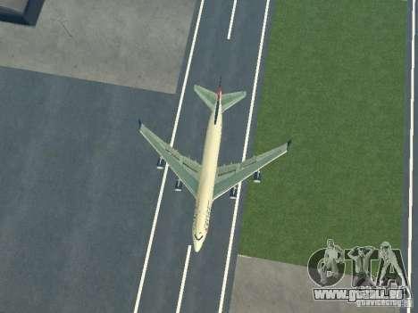 Boeing 747-400 Delta Airlines für GTA San Andreas Rückansicht