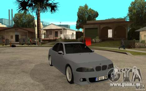 BMW 523i CebeL Tuning pour GTA San Andreas vue arrière