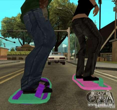 Hoverboard bttf für GTA San Andreas zurück linke Ansicht