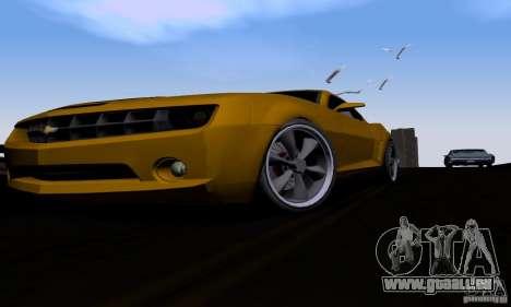 Chevrolet Camaro pour GTA San Andreas vue intérieure