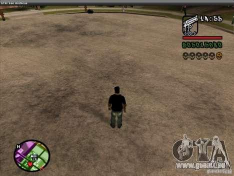 Die Schriftart der NFS-MW-v2 für GTA San Andreas achten Screenshot