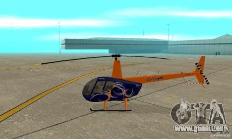 Robinson R44 Raven II NC 1.0 3 de la peau pour GTA San Andreas sur la vue arrière gauche