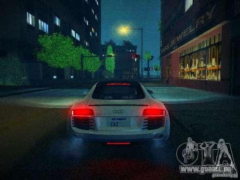 Audi R8 V10 pour GTA San Andreas vue de dessus